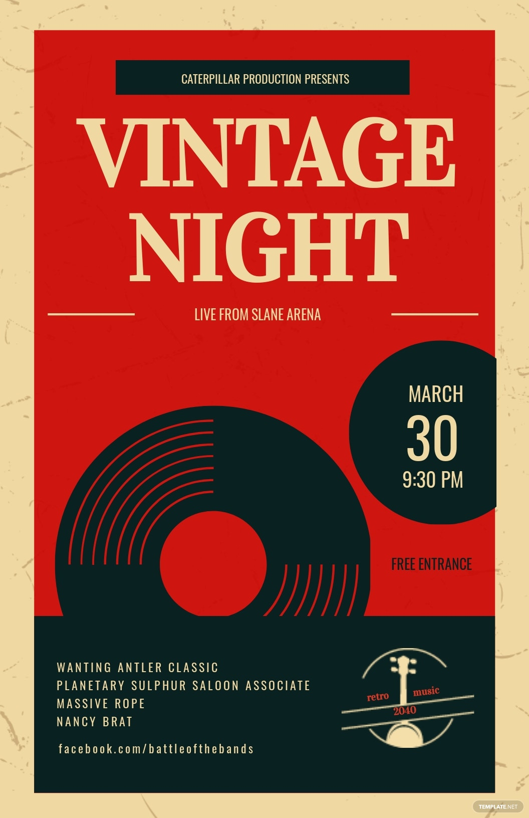 Vintage Music Poster Template