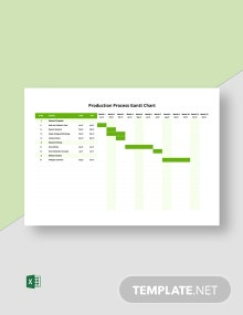 Production Process Gantt Chart Template