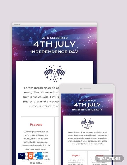 Free 4th of July Email Newsletter