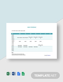 Free Daily Freelance Schedule Template