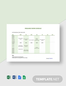 Free Sample Freelance Schedule Template