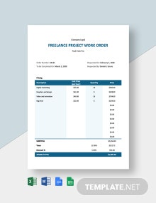 Freelance Project Order Template