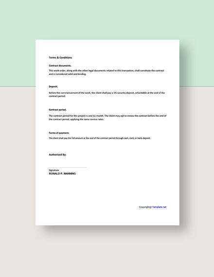 Free Blank Freelance Order Template