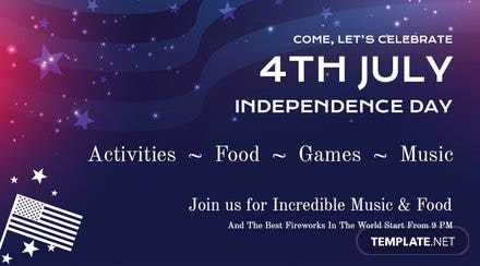 4th of July Facebook App Cover