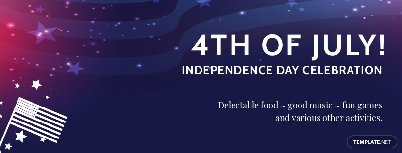 Free 4th of July Facebook App Cover
