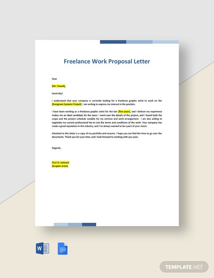 Freelance Work Proposal Letter Template