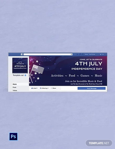 Free 4th of July Facebook Cover