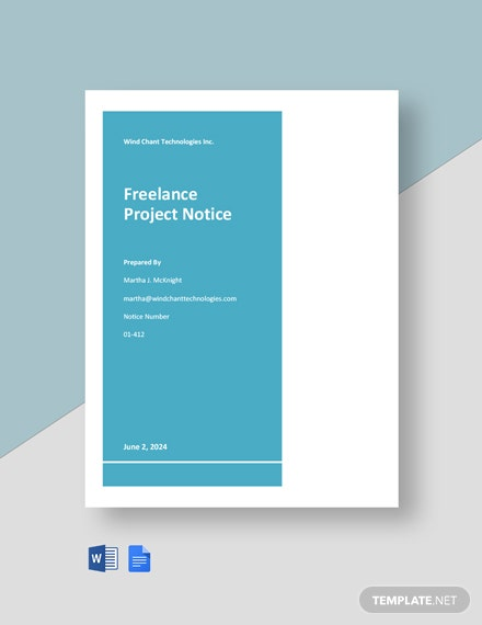 Freelance Project Notice
