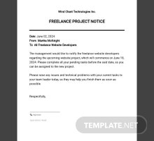 Freelance Project Notice Template