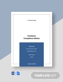 Freelance Compliance Notice Template