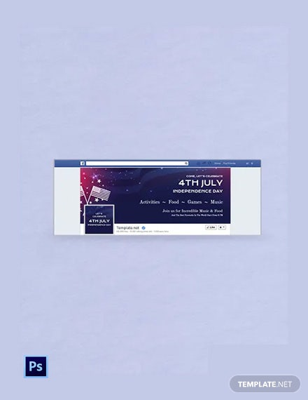 Free 4th of July Facebook Event Cover