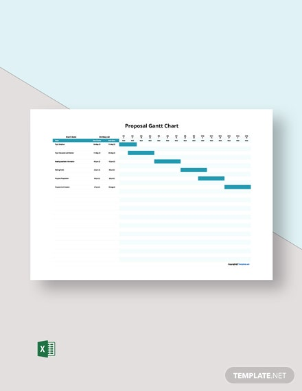 Free Sample Proposal Gantt Chart Template