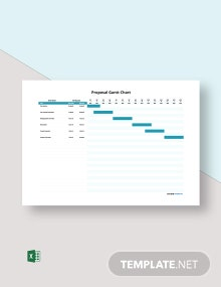 Free Sample Proposal Gantt Chart Template