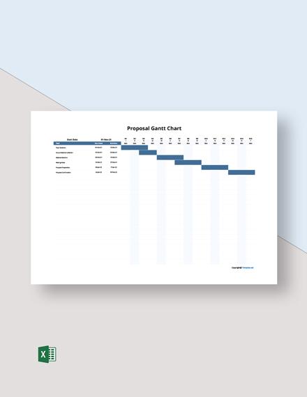 Free Simple Proposal Gantt Chart Template