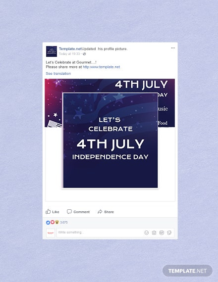 Free 4th of July Facebook Profile Photo