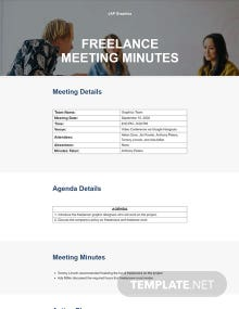 Formal Freelance Meeting Minutes Template