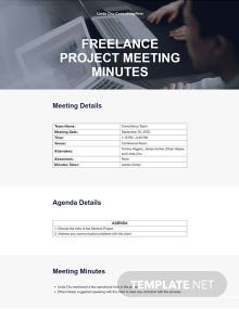 Freelance Project Meeting Minutes Template