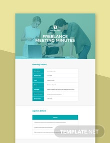 Free Freelance Meeting Minutes Template