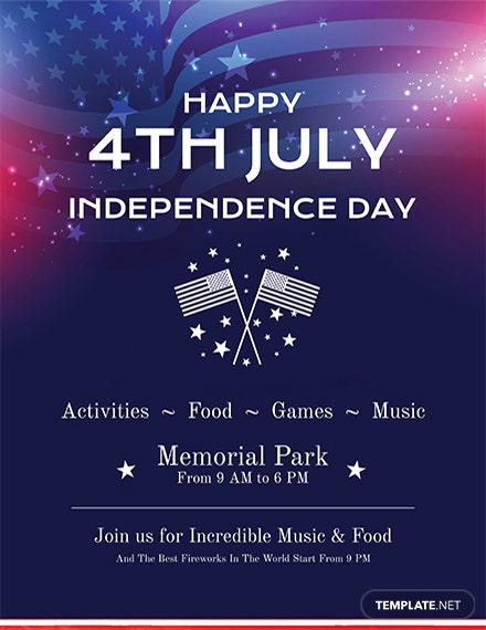free simple 4th of july flyer template download 416 flyers in psd