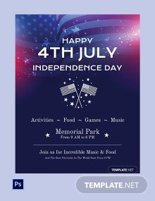 Free Simple 4th of July Flyer Template
