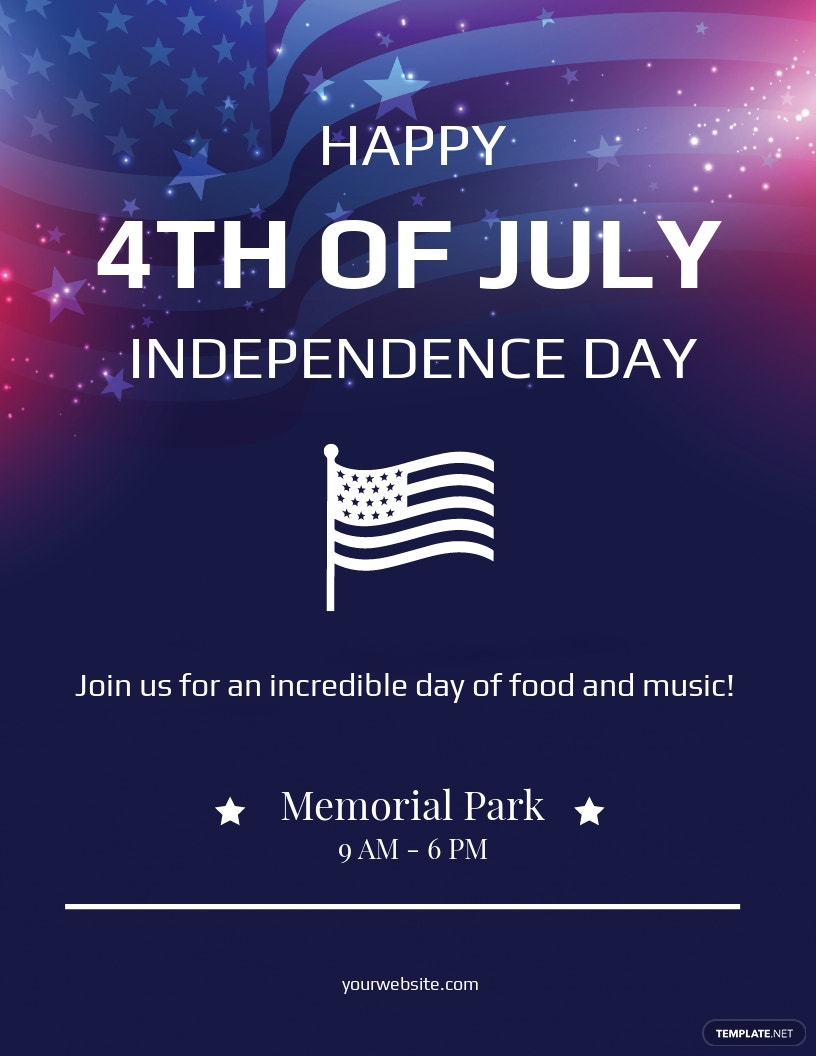 Simple 4th of July Flyer Template.jpe