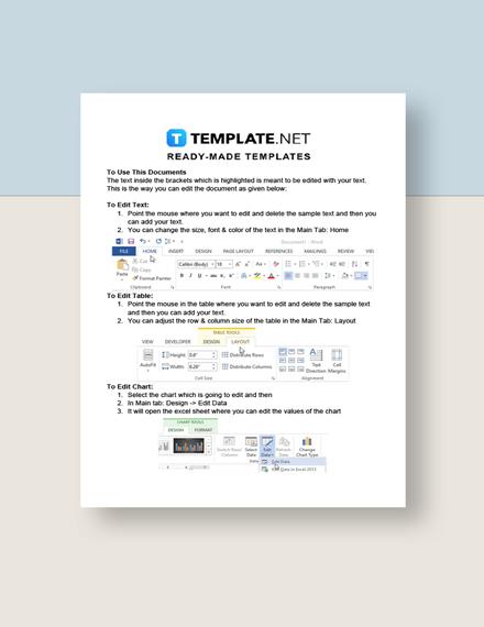 Freelance Marketing Timeline Instructions