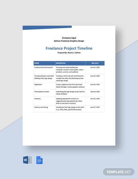 Freelance Project Timeline Template