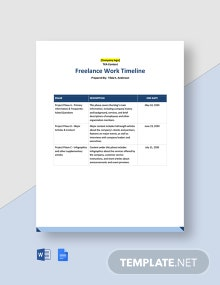 Freelance Work Timeline Template