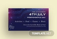 4th of July Google Plus Cover