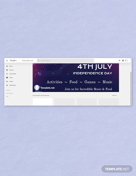 Free 4th of July Google Plus Cover