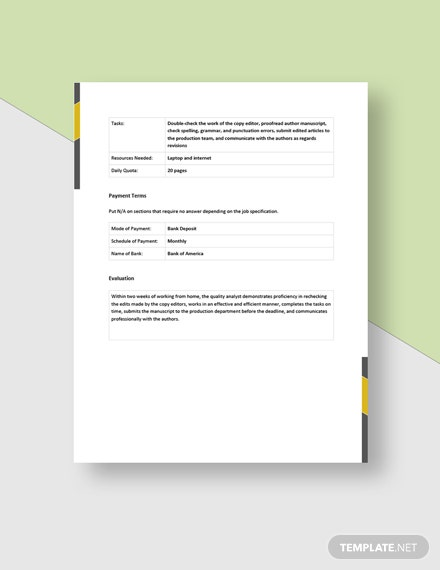 Work From Home Evaluation Form Template