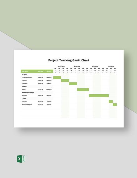 Project Tracking Gantt Chart Template