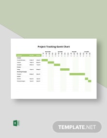 Project Tracking Gantt Chart Template