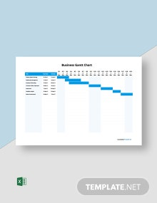Free Simple Business Gantt Chart Template
