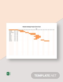 Website Redesign Project Gantt Chart Template