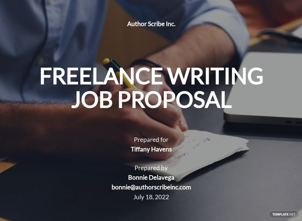 Freelance Writer Proposal Template