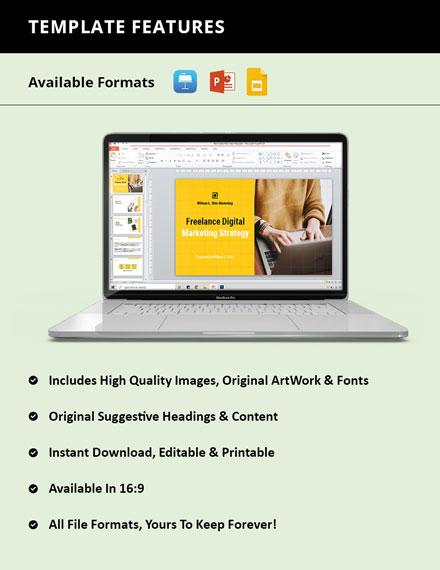 Freelance Marketing Presentation format