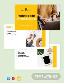 Freelance Marketing Presentation Template