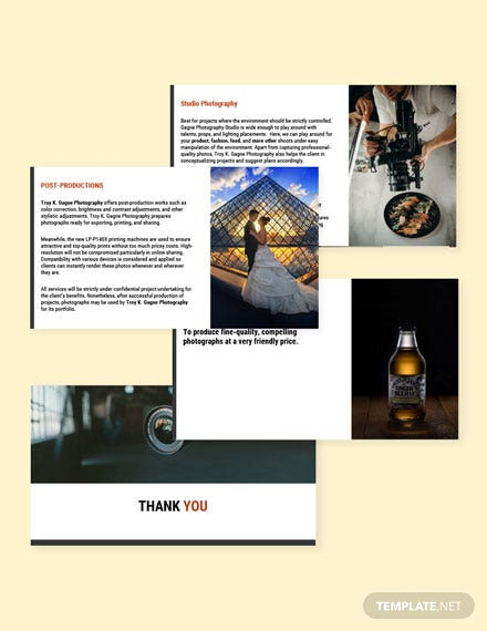 Freelance Photographer Presentation template