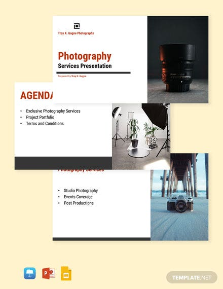 Freelance Photographer Presentation