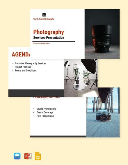 Freelance Photographer Presentation Template