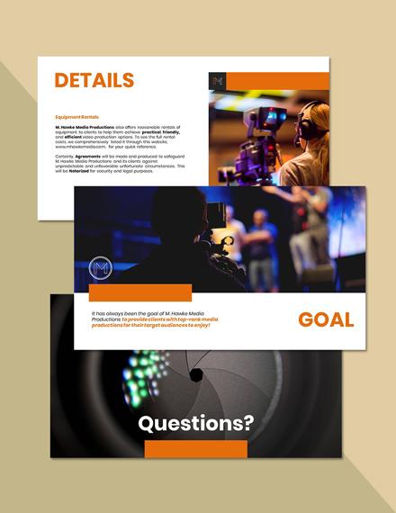 Freelance Service Presentation Format
