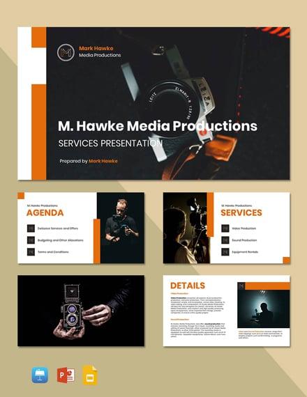 Freelance Service Presentation Template