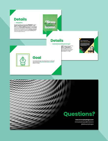 Freelance Designer Presentation Format