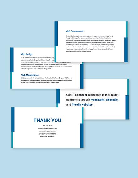Freelance Project Presentation Template Format
