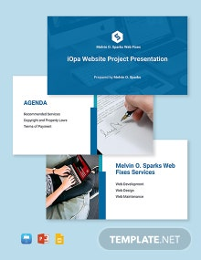 Freelance Project Presentation Template