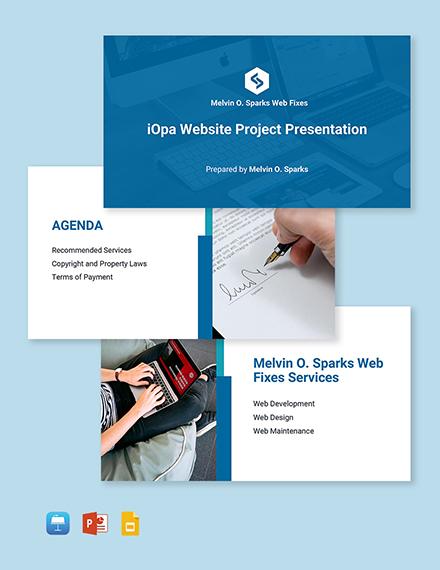 Freelance Project Presentation Template