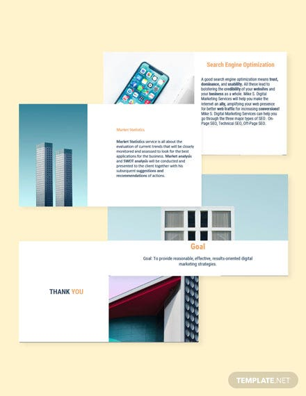 Freelance Work Presentation template