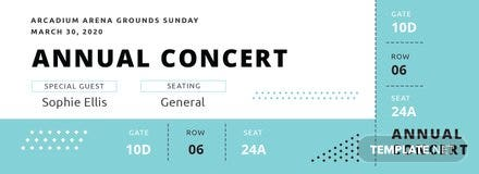 Simple Annual Concert Ticket Template