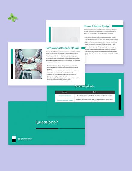 Free Sample Freelancer Presentation Template Format